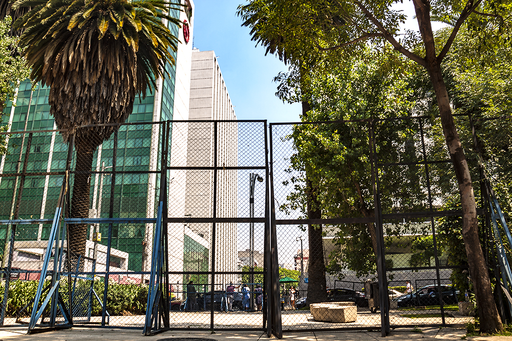 Fences across the street from US Embassy--Mexico City
