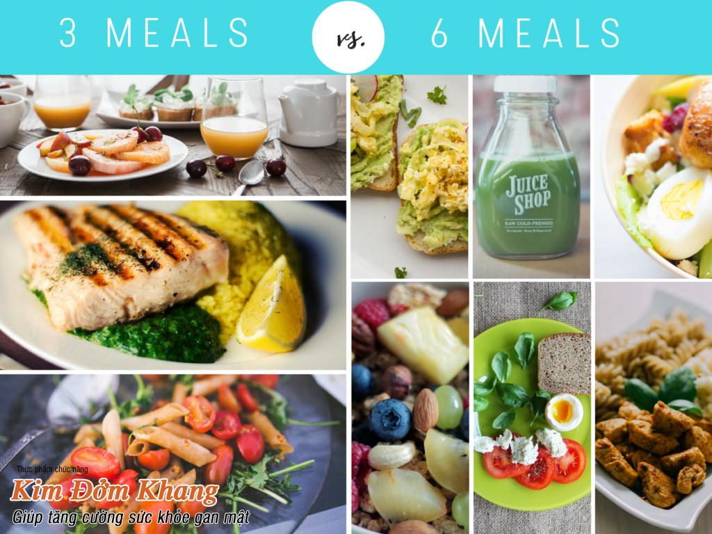 Chia nhỏ bữa ăn để tránh làm tăng áp lực lên hệ thống gan mật