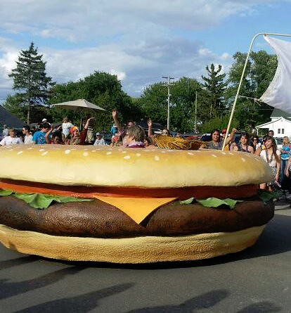 Cheeseburger in Caseville. From Michigan's Small Town Treasures: The Craziest Festival in Michigan's Thumb