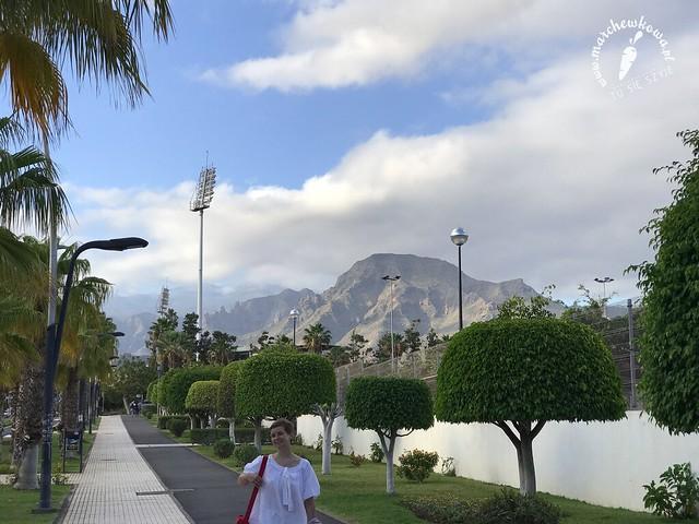 Teneryfa, góry, wulkan, maj 2017, widok na masyw Adeje z Las Americas