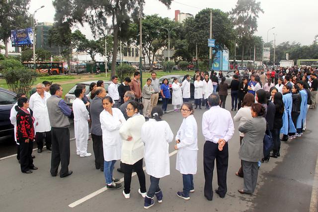 Instituto Nacional de Salud participó del Simulacro por Sismo