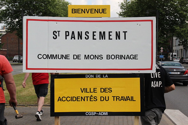 La CGSP-Admi a recensé le nombre d'accidents de travail ainsi que le nombre de journées de travail perdues.