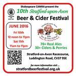 Stratford Beer Festival 2016