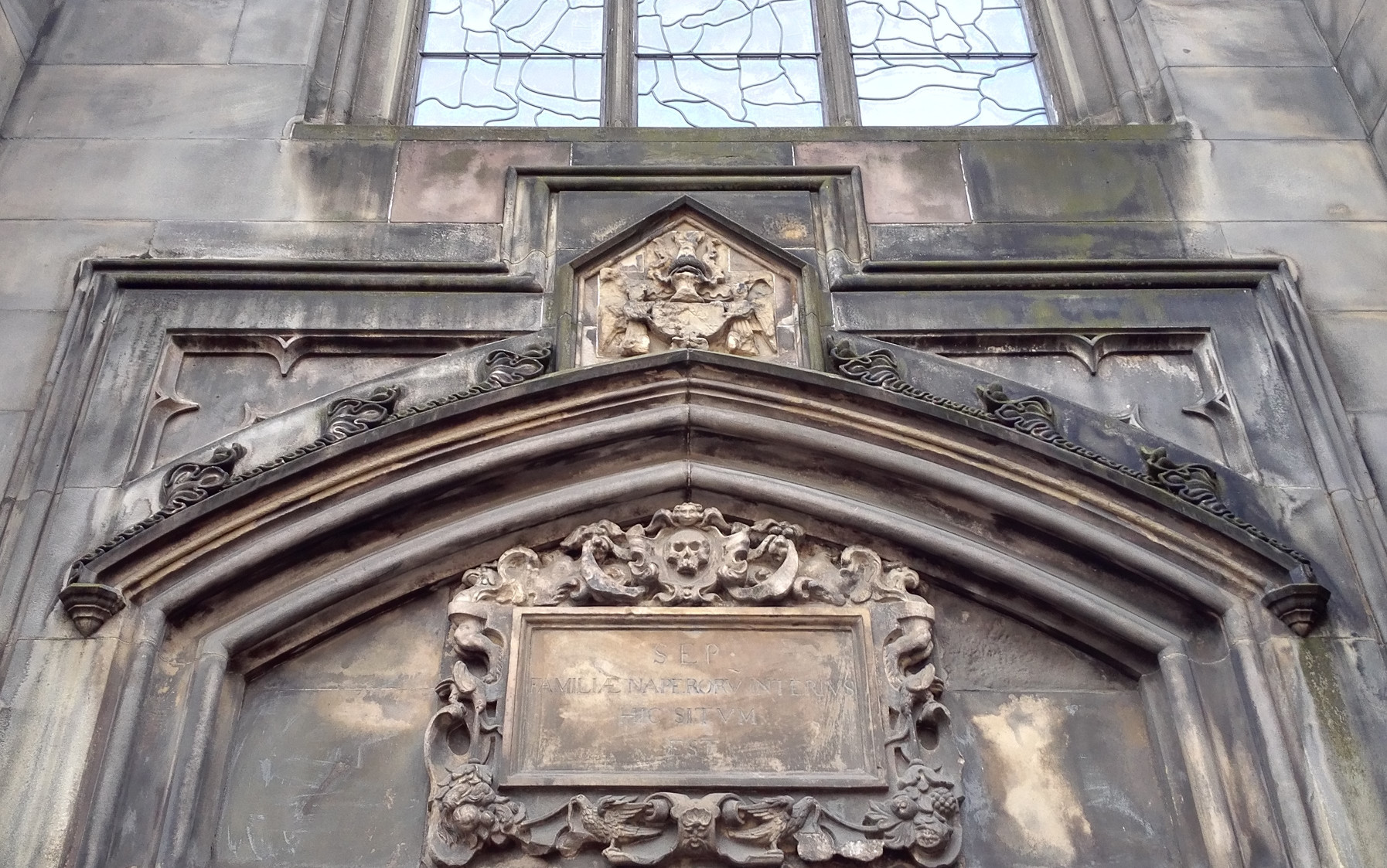 エディンバラの建物のカッコイイ装飾