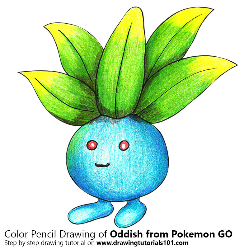 Oddish From Pokemon Go With Color Pencils Time Lapse Flickr