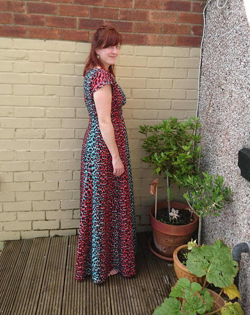 By Hand London Anna maxi dress in African Wax Print fabric
