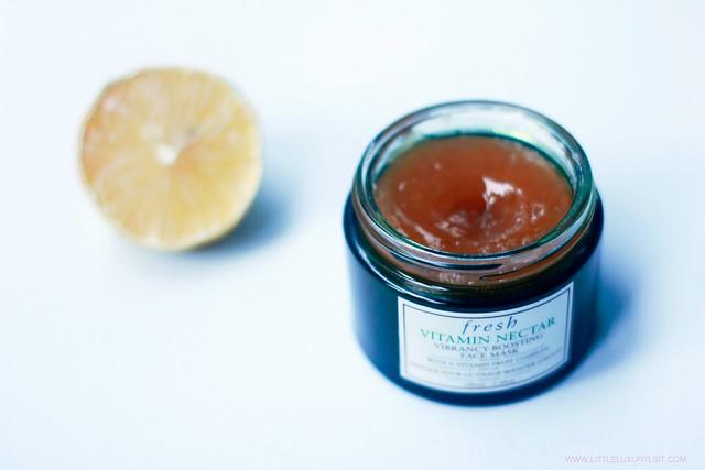 Fresh Vitamin Nectar vibrancy boosting face mask open jar