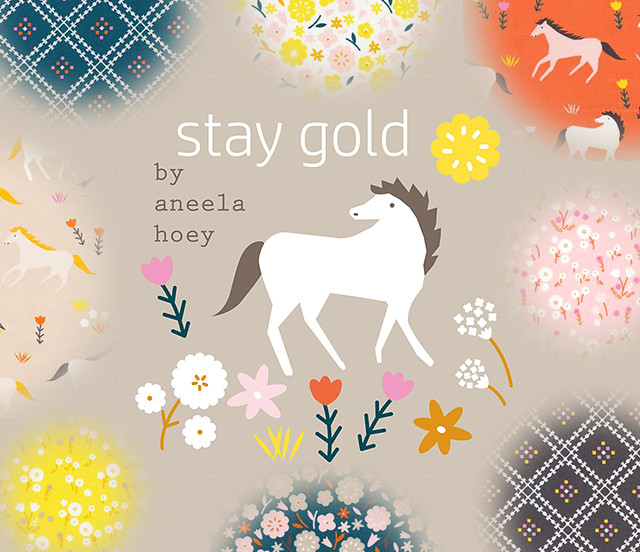 Cloud9 Fabrics Stay Gold Collection by Aneela Hoey