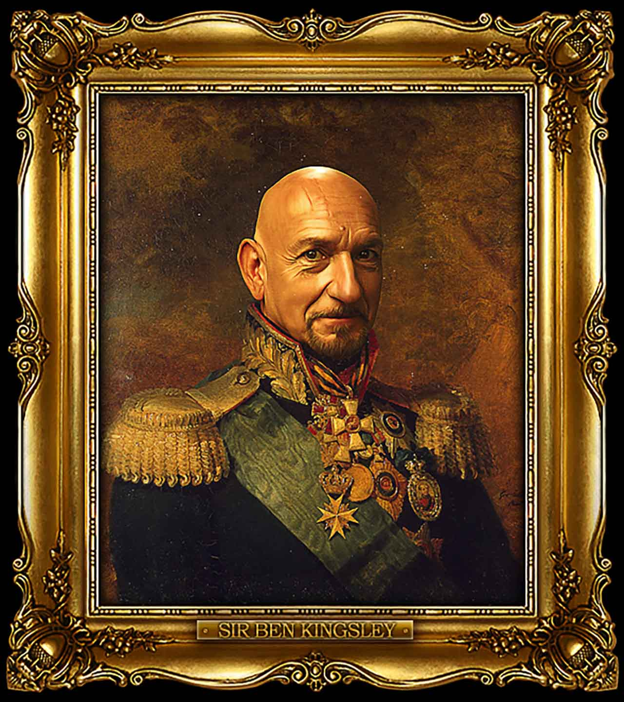 Artist Turns Famous Actors Into Russian Generals - Sir Ben Kingsley