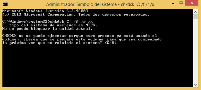 Comando CHKDSK: Escanear, comprobar y reparar disco duro en Windows 10, 8, 7