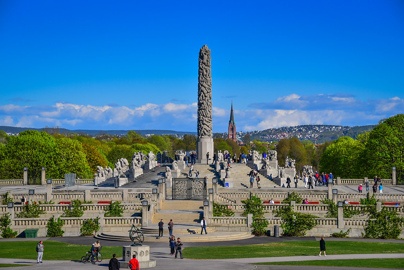Monolith at Vigeland Sculpture Park within Frogner Park - Oslo Norway