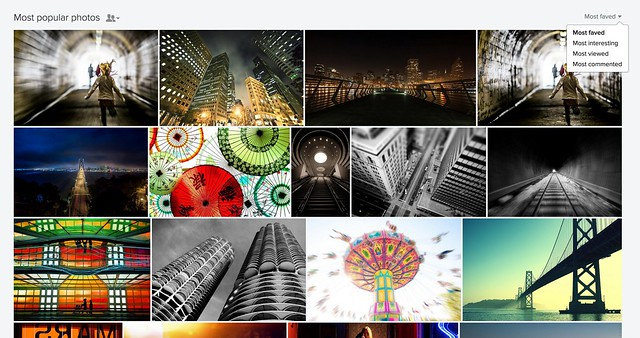 Your Most Favorited, Interesting, Commented, and Viewed Photos on the New Flickr Profile Page