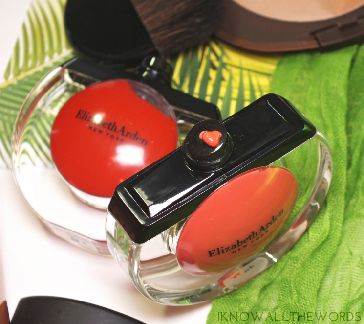 elizabeth arden tropical escape sheer kiss lip oil coral caress rejuvenating red (3)