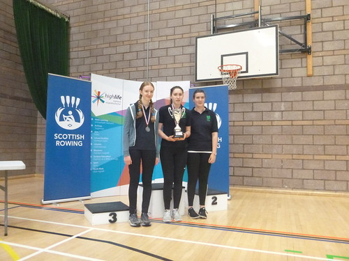 ​Highland League Small Schools - Gairloch winners Amber, Arlene and Morven receiving the trophy for our school.