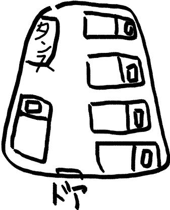 curzon-hotelのドミトリーの見取り図