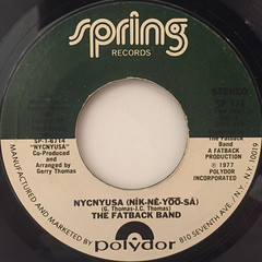 THE FATBACK BAND:NYCNYUSA(NIK-NE-YOO-SA)(LABEL SIDE-A)