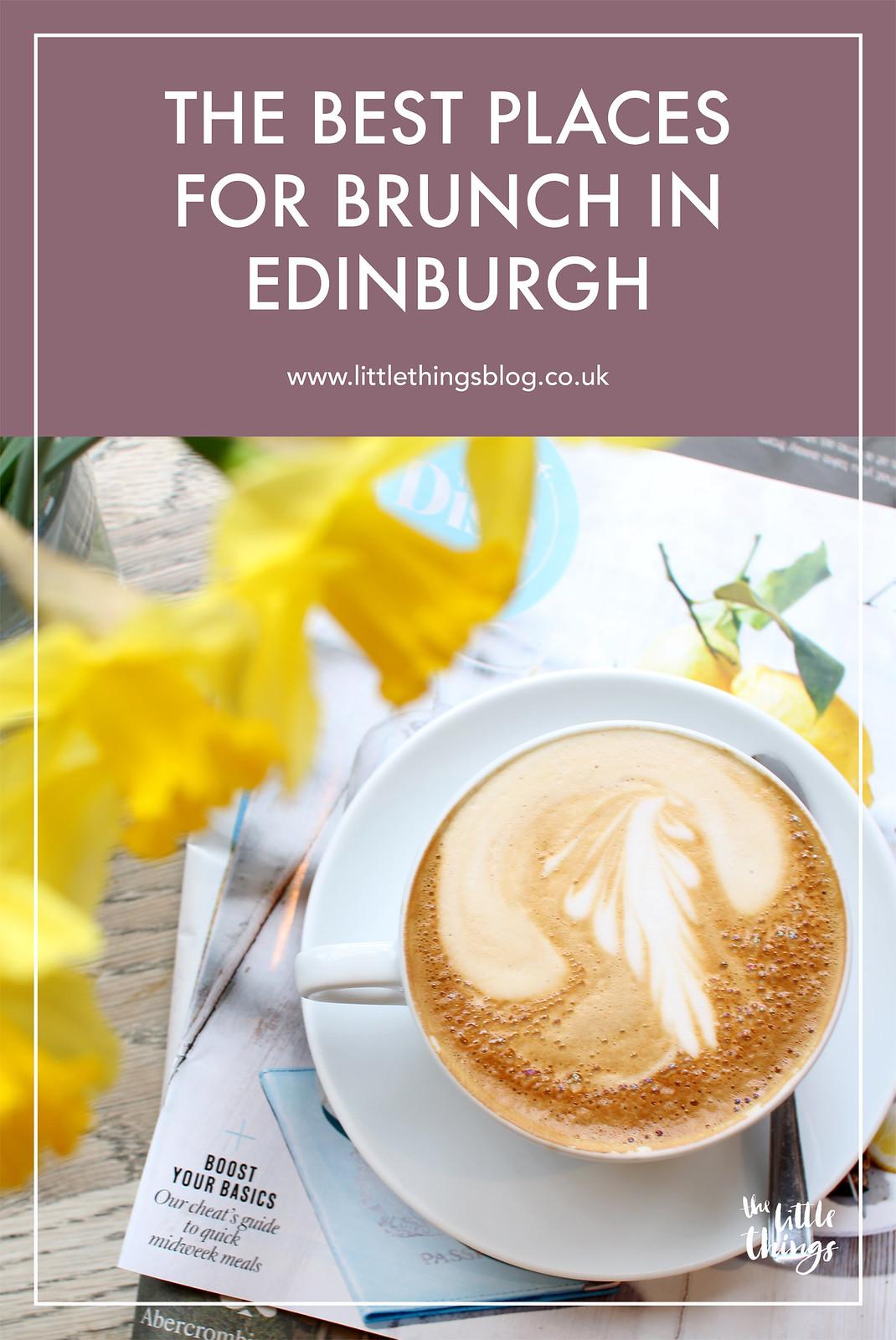 Best places for brunch in Edinburgh Scotland UK travel blogger