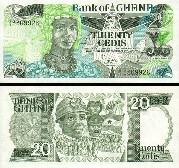 20 Cedis Ghana 1984, P24