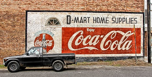 Georgia - Lavonia - Truck and Coke Sign