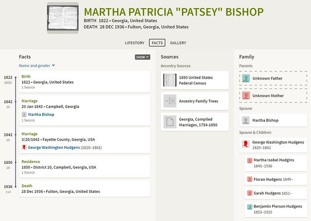 "Martha Patricia ""Patsey"" Bishop"
