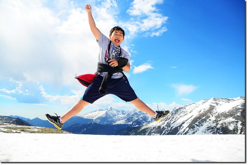 Jacob Jumping Over Longs Peak 3