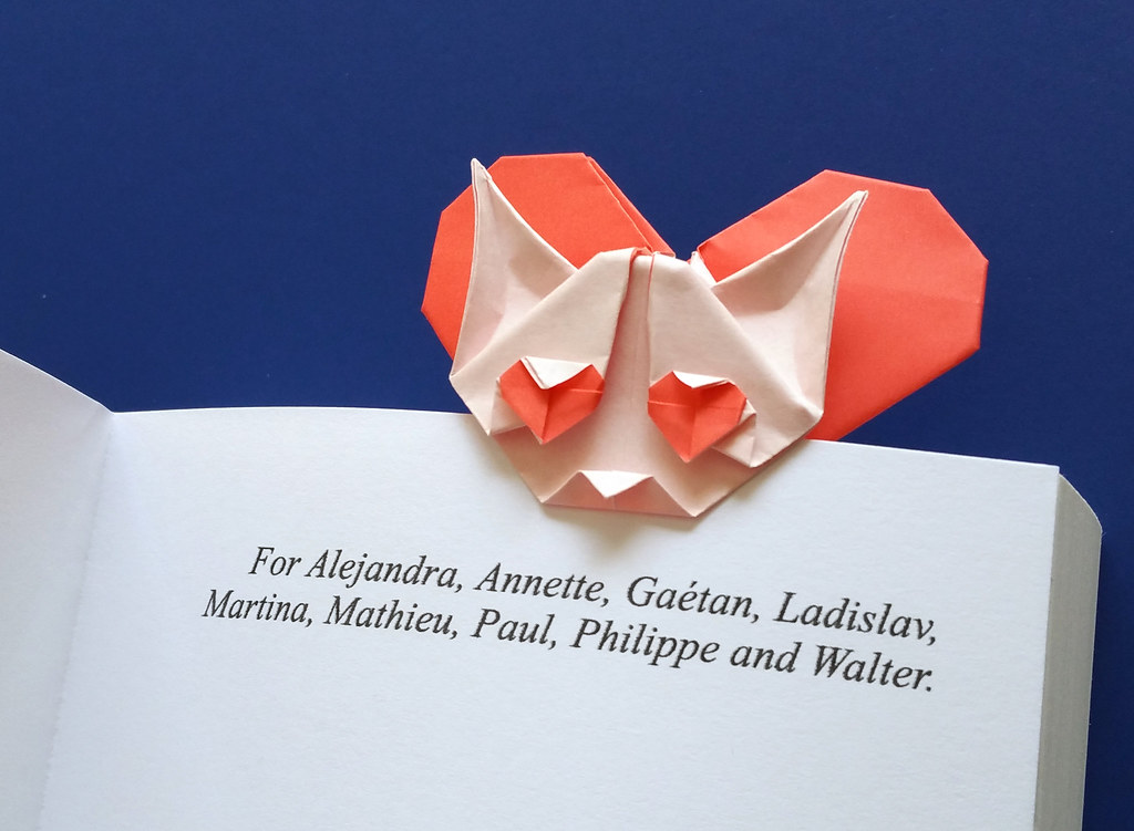 Origami Heart Cat Bookmark What Do You Think Of My New Ori Flickr