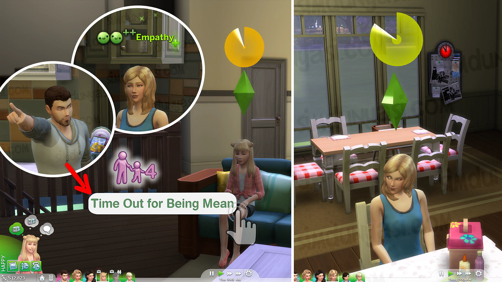 The Sims 4 Parenthood Ebeveynlik Paketi Time Out Cezalandırma