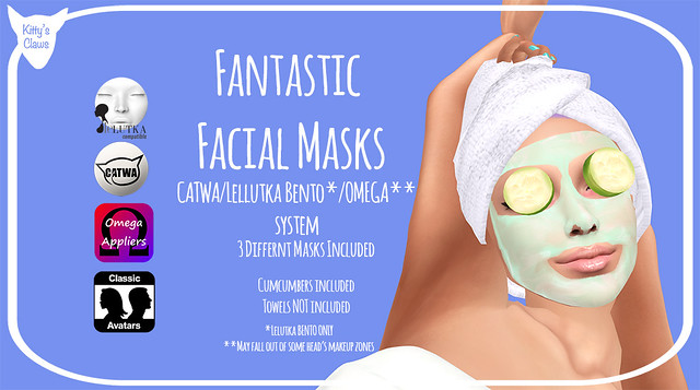 Kitty's Claws: Fantastic Facial Masks - NOW FOR LELUTKA BENTO!