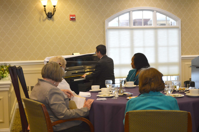 GenMtgMayLunch2017_0047; Dr. Gregory Geehern playing selections from Beethoven's opera