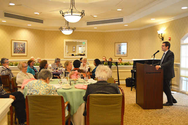 GenMtgMayLunch2017_0035; Dr. Gregory Geehern of the Princeton Festival talking about the festival.