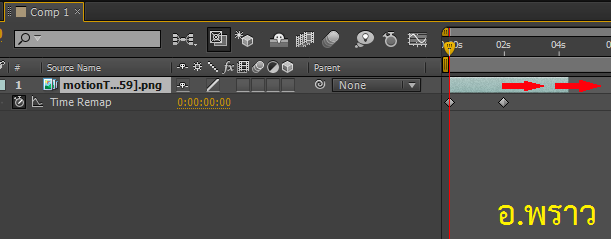 วิธีการวนวิดิโอหรือแอนิเมชันใน Adobe After Effects loopOut Cycle