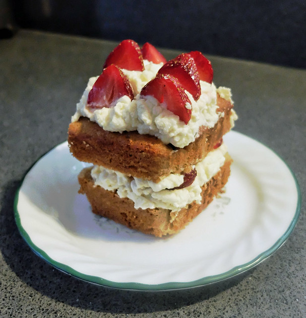 Strawberries and whipped cream Breadfruit Buttermilk Honey Cake Recipe