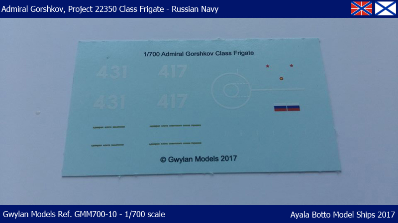 Frégate Gorshkov 417, Projet 22350 - Gwylan Models 1/700 35321736576_fdd68796c9_o