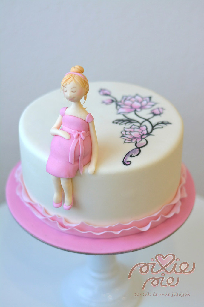 Pregnant Woman Cake Pixie Pie Flickr