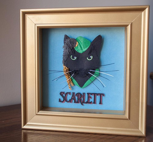 Papercut Cstom Cat Portrait by Kathryn Willis - Scarlett