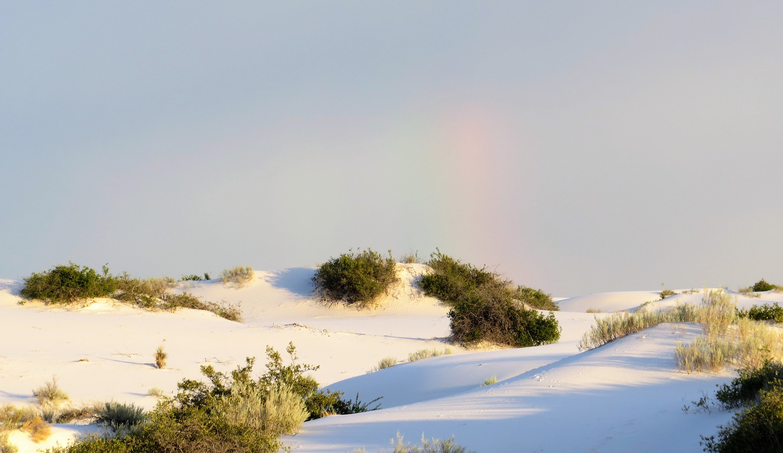 Start of the rainbow, White Sands, New Mexico