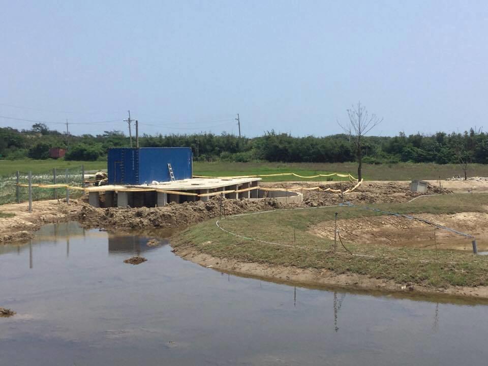 規避資材室法規的水泥化工程。圖片來源:中華鳥會提供。