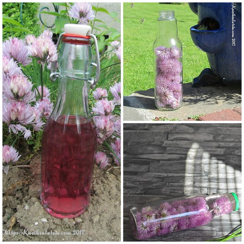 Schnittlauchblütenessig Collage
