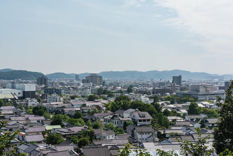 阿智神社の高台から見る倉敷の町