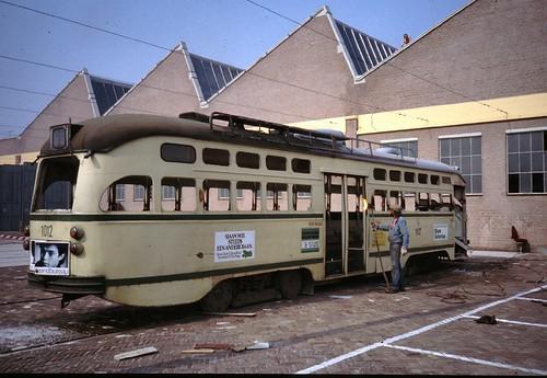 Den Haag, remise Scheveningen (19810804)