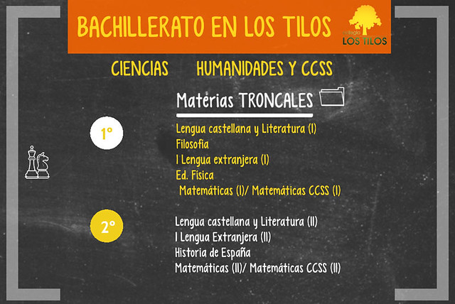 Modalidades del Bachillerato concertado en Los Tilos