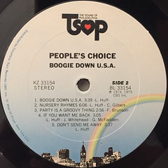 PEOPLE'S CHOICE:BOOGIE DOWN USA(LABEL SIDE-B)