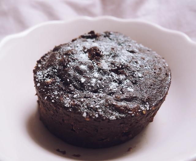 10 minute healthy gluten free dairy free chocolate sponge pudding recipe mug cake microwave panasonic