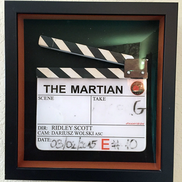 The Martian clapperboard