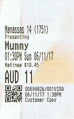 The Mummy ticketstub