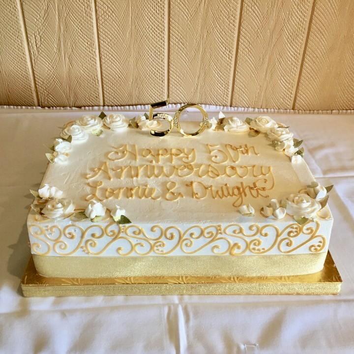 Golden 50th Wedding Anniversary - 500029   Creative Cakes - Tinley ...