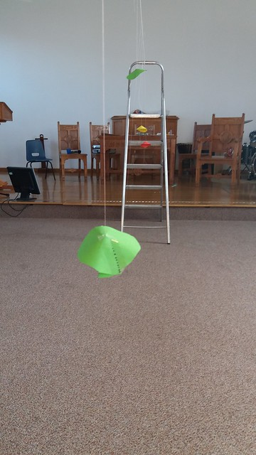 Barton's pendulum activity from chapter 10 of Messy Church Does Science