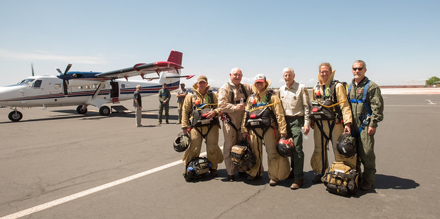 Agriculture Secretary Sonny Perdue and U.S. Forest Service Chief Tom Tidwell with U.S. Forest Service Smokejumpers