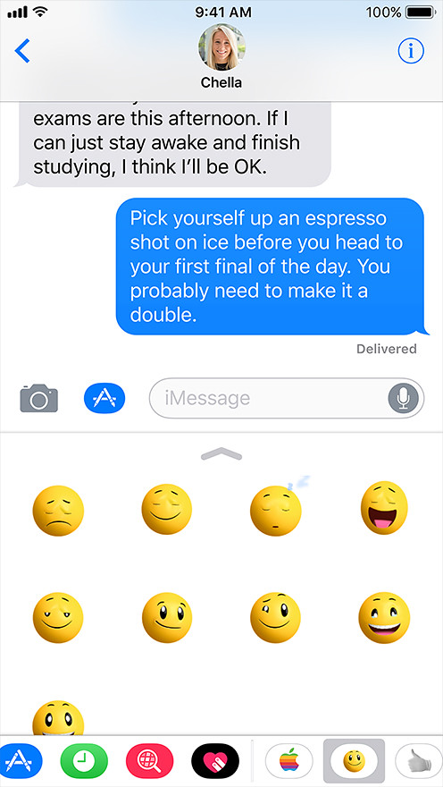 Message iOS11 iPhone