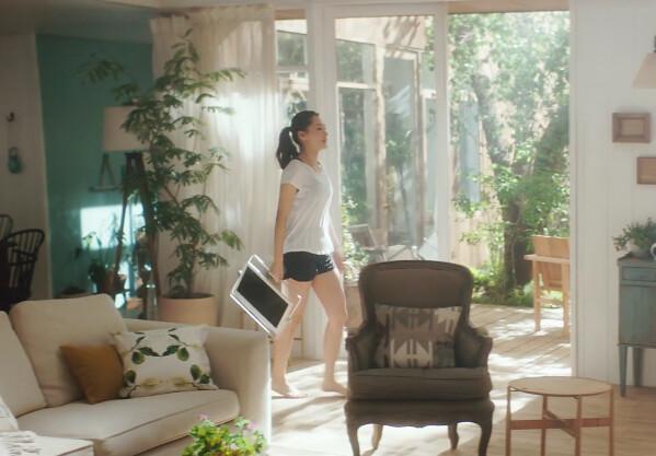 ポータブル・ビエラ 新CMで綾瀬はるか服、パンツを脱いで全裸に